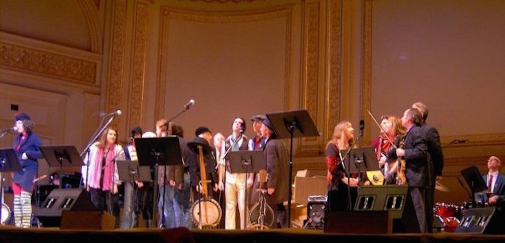 McGarrigle Christmas Hour performance with Kate and Anna, Loudan, Sloan, Rufus and Martha Wainwright, Emmylou Harris, Teddy Thompson, Michael Jerome Browne, myself and many others. Carnegie Hall, New York, 2005
