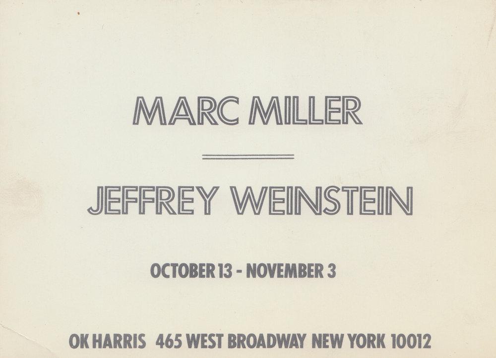 OK Harris, Marc H Miller, Card, 1973