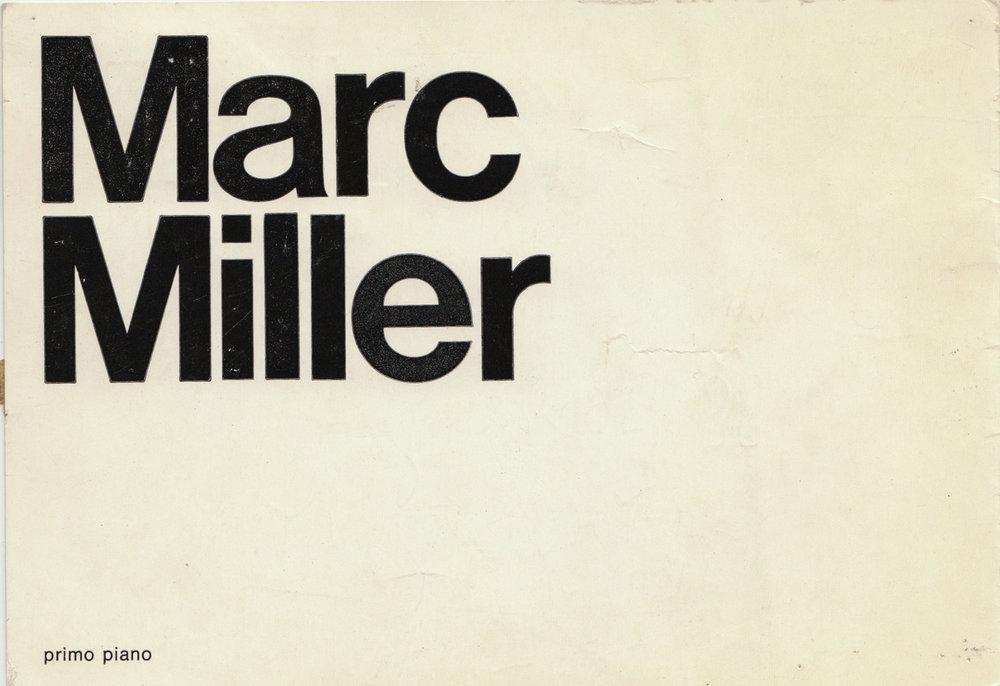 Cenobia Visualitá (Milan), Marc Miller, Card, 1973