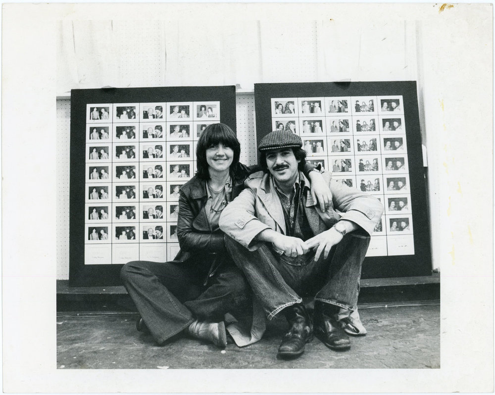 Bettie Ringma and Marc H Miller with Paparazzi Self Portraits, Washington Project for the Arts, 1977. Photo by Paul Fineberg