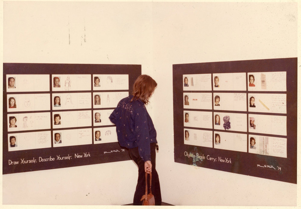 Installation view of exhibition at OK Harris, 1975