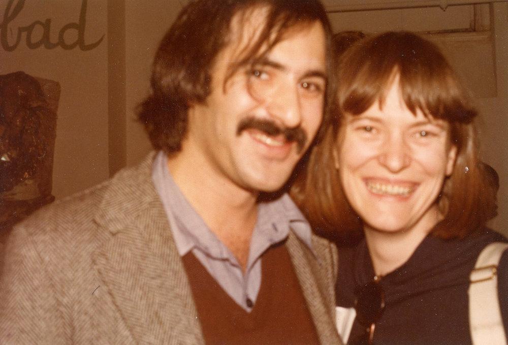 Marc H Miller and arts writer Annette Kuhn, 1975
