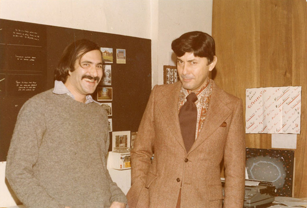 Marc and Bill Gerdts who arranged the Amsterdam Privé exhibition at City University Graduate Center, 1981