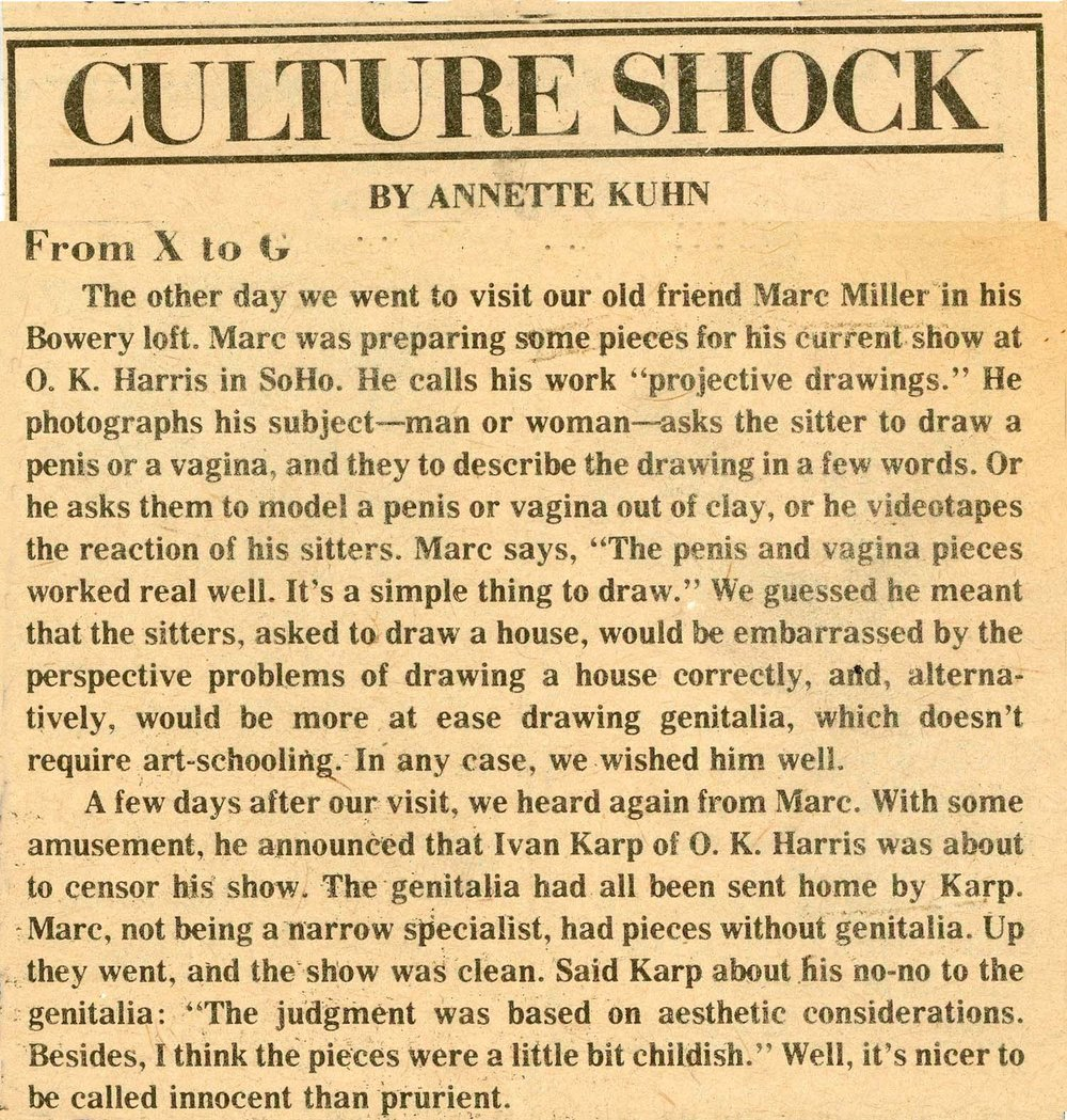 Annette Kuhn for Village Voice, From X to G, 1975