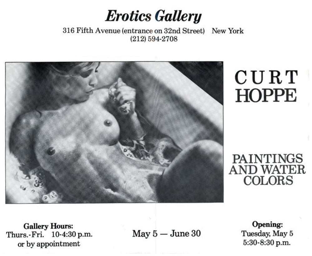 Erotics Gallery, Curt Hoppe, Paintings and Watercolors, Poster, 1982.