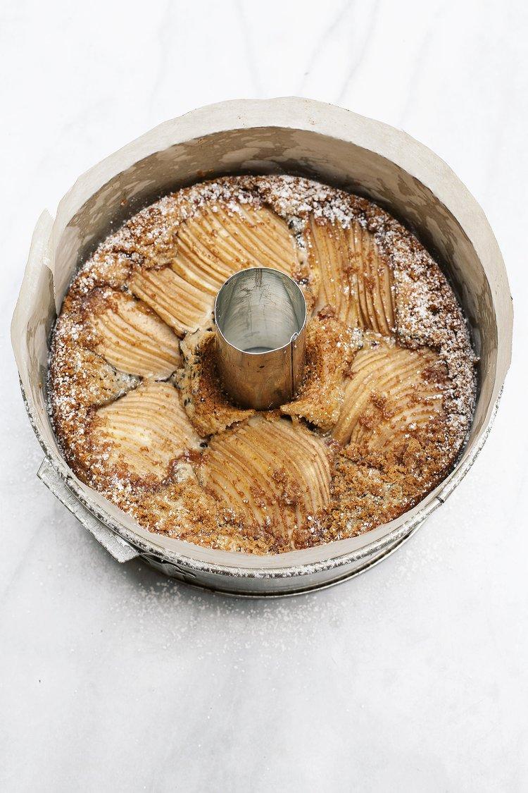 Pear Tahini Cake | Tara O'Brady