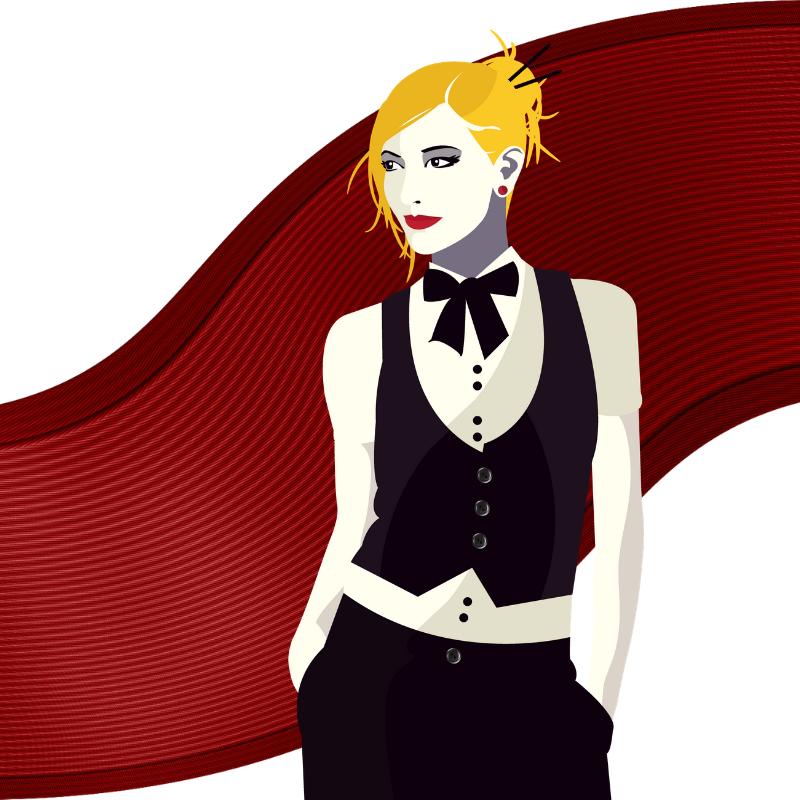 Portia Van Cleve Character Block