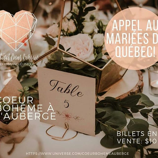 Gens de la région de Québec qui panifiez votre mariage pour 2019 ou même 2020, sous un même toit vous trouverez tout ce dont vous rêvez pour un mariage bohème et chic à la fois. Pour votre agenda, le tout aura lieu le dimanche 24 février prochain à l'Auberge Saint-Antoine. Signature Papeterie sera présente…. Future brides and grooms from Quebec City Area, this coming Sunday, February 24, 2019, you will find all you need for your dream wedding Boho & Chic Style at l'Auberge Saint-Antoine in Quebec City, Signature Papeterie will be there to meet you... #aubergesaintantoine #weddingstationery#weddinginvitations #wedding2019 #wedding 2020 #calligraphy  #handmadepaper #cottonpaper#customdesign #canadawedding #organicwedding #quebecwedding #mariagequebec #mariage2019 #mariage2020 #fairepartmariage #signaturepapeterie