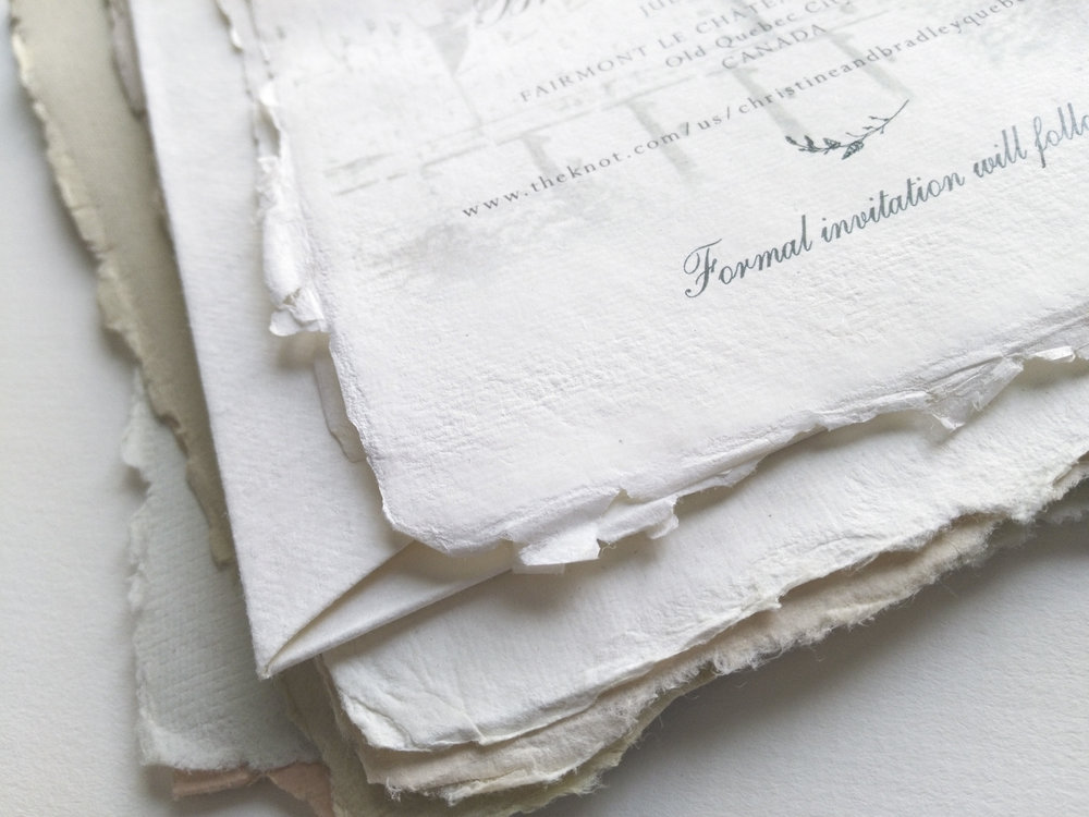 Perfectly Imperfect - handmade paper…