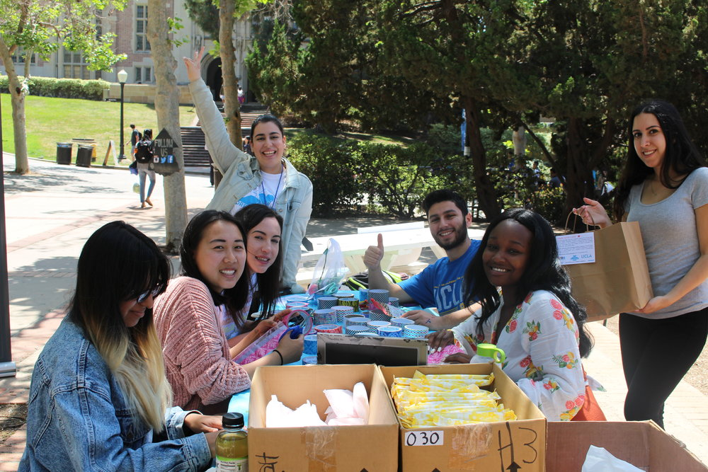 Care Packages 4/23/18 - EVENT WITH UCLA - ASSEMBLED 100 CARE PACKAGES
