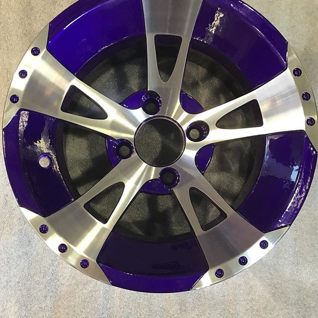 Another fun project complete - - - - -  #yeg #yyc #ymm #powdercoating #ceramic #ceramiccoating #impactcoatings #custom #alberta #coatings #fast #automotive #auto #decorate #780 #403 #587 #yeggers #atv #quad #cars #hotrods #trucks #impact #oil #rims yes #Reds #Headers #golf cart