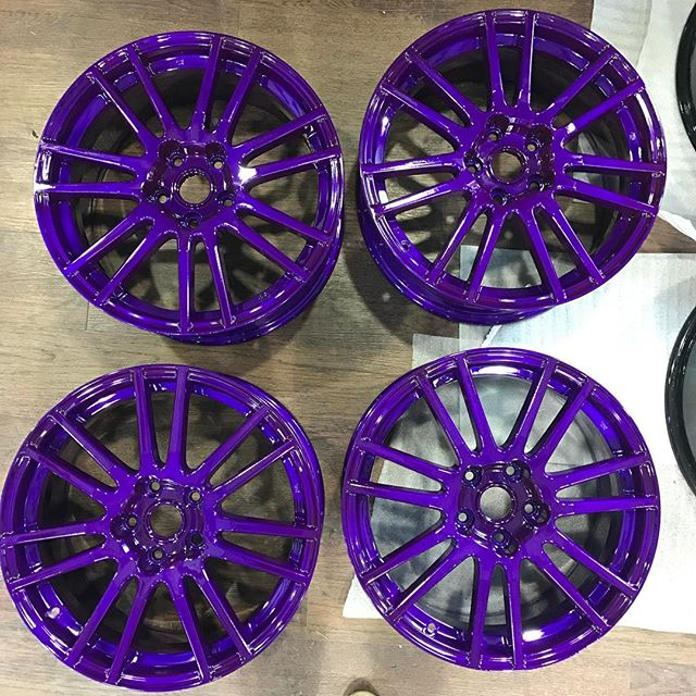 Purple Kicks - - - - -  #yeg #yyc #ymm #powdercoating #ceramic #ceramiccoating #impactcoatings #custom #alberta #coatings #fast #automotive #auto #decorate #780 #403 #587 #yeggers #atv #quad #cars #hotrods #impact #oil #ferrari #lamborghini #rims
