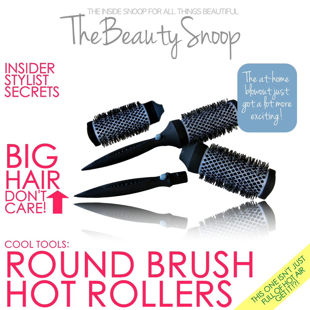 Round brush hot rollers for mega volume, detachable handle round brush