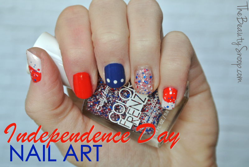 patriotic nail design, independence day nail ideas, red white and blue nails
