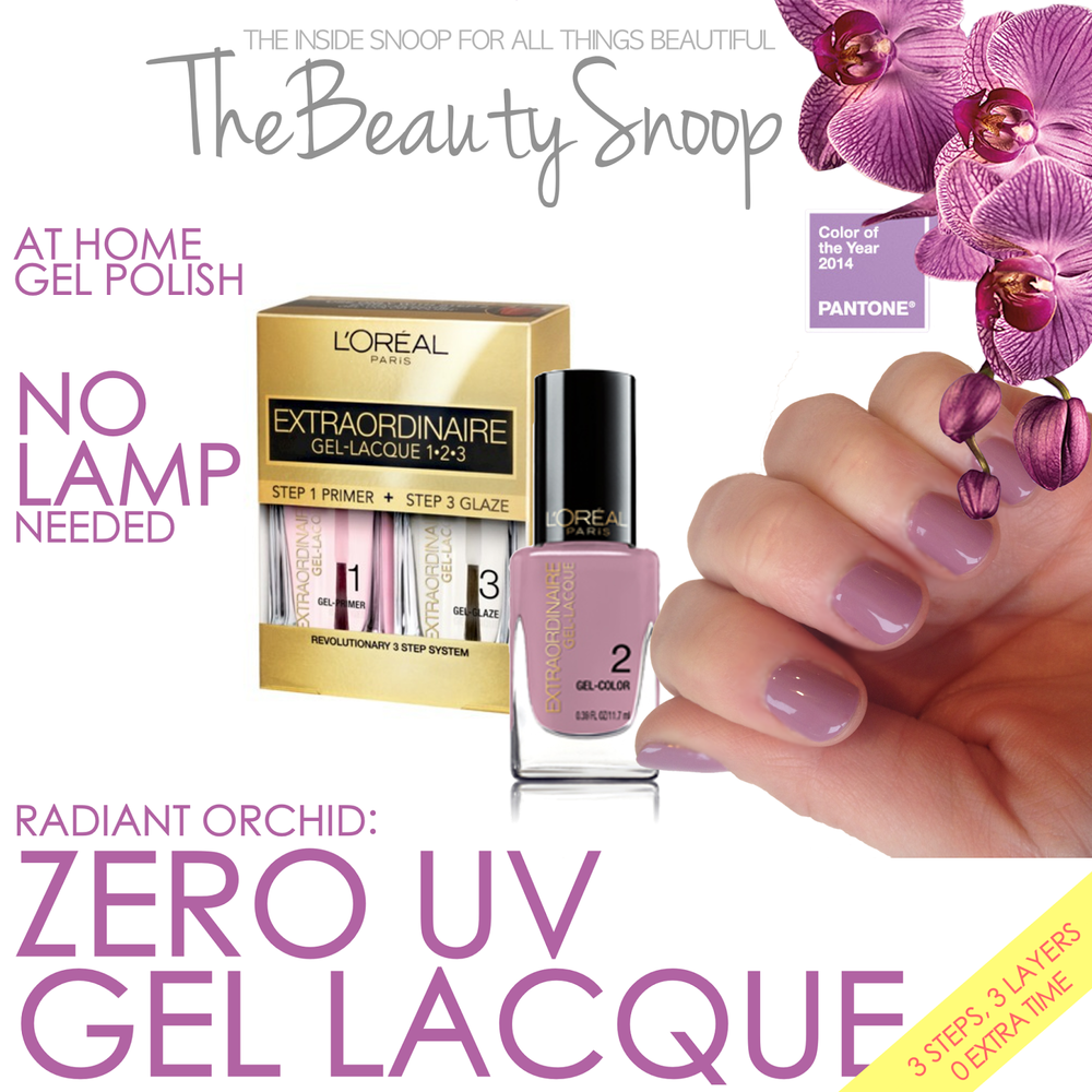 AT HOME NAIL GEL, NO UV LIGHT, RADIANT ORCHID MANICURE