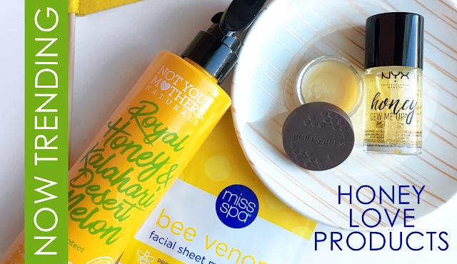 bee venom mask, honey makeup primer, honey shampoo and conditioner, honey beauty products