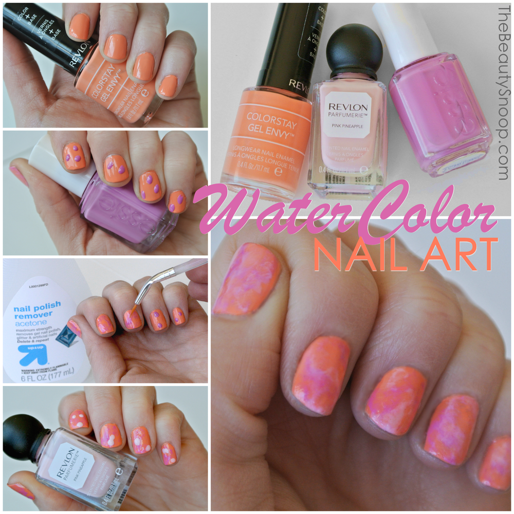 watercolor nails, marble nail art, #sharebeautycontest