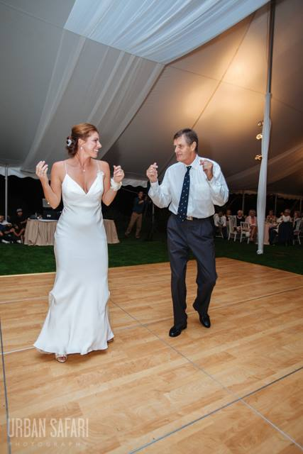 PARENT LESSONS - What better way to spend some quality time with your mom or dad before you get married! You can do a simple routine or a high energy dance to start the party. The options are limitless.