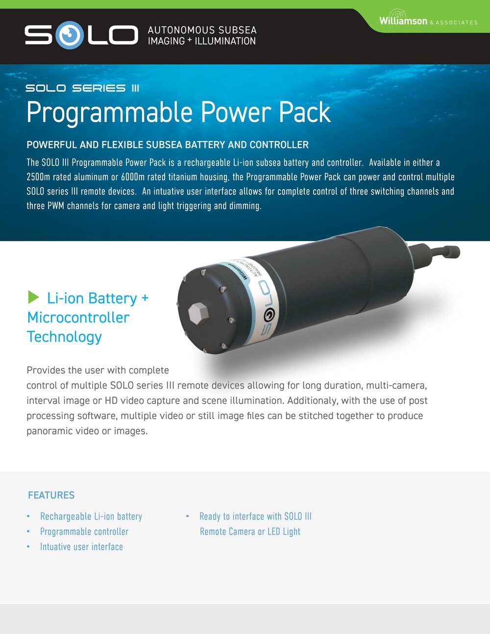 Subsea Programmable Battery Pack