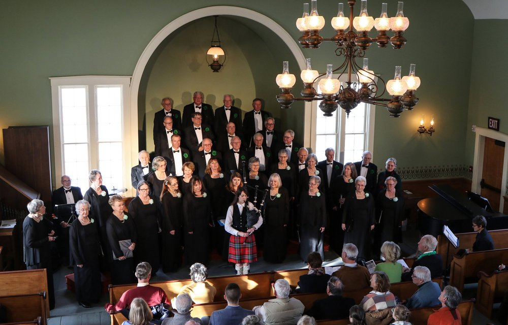 The Chatham Choral sings at the grand opening of the newly restored South Harwich meetinghouse, MArch 17 and 18, 2018