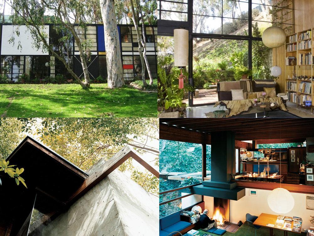Eames House Photos Courtesy |   Eames Foundation     | Glenn House Photos Courtesy |   Dwell Magazine   by   João Canziani