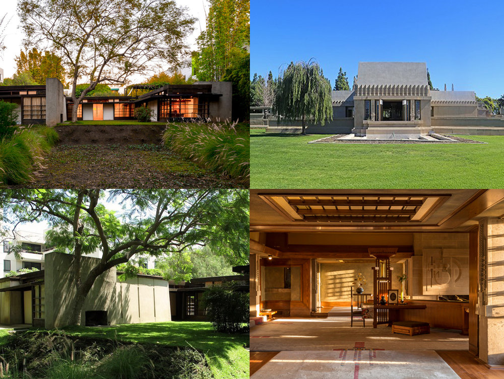 AD Classics •   Kings Road House Photo  : ©Joshua White  AD Classics •   Kings Road House Photo  : ©Flickr John Zacherle   Architectural Digest   • Photo Courtesy of Hollyhock House KCET |   Behind the Scenes of the Hollyhock House   • Photo: Courtesy of Barnsdall Art Park