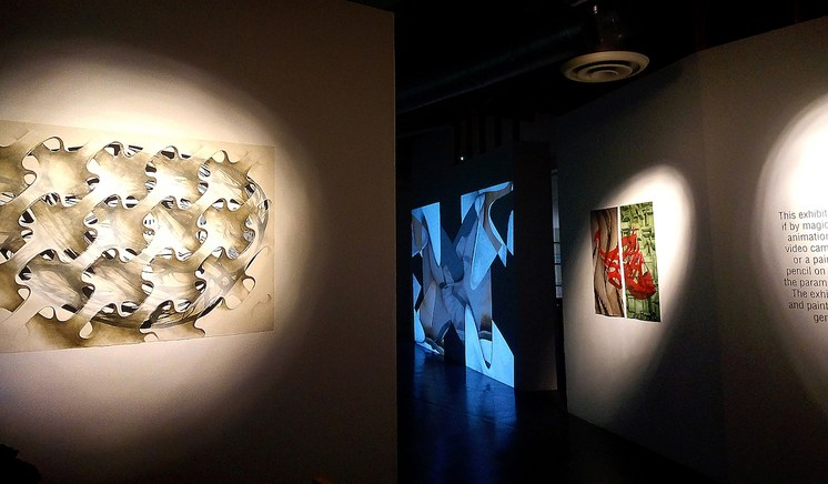 Installation shot: Mimesis. Carla Viparelli. Manhattan Beach Art Center. Photo by Carmine Arnone.