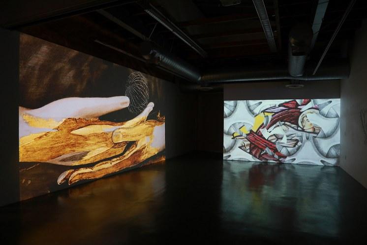 Installation shot: Mimesis. Carla Viparelli. Manhattan Beach Art Center. Photo by Eric Swenson.