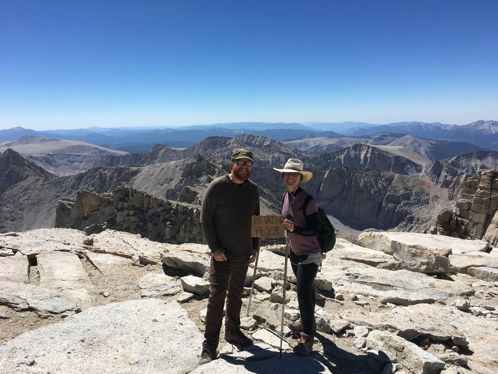 Top of Whitney, the start of the trail.