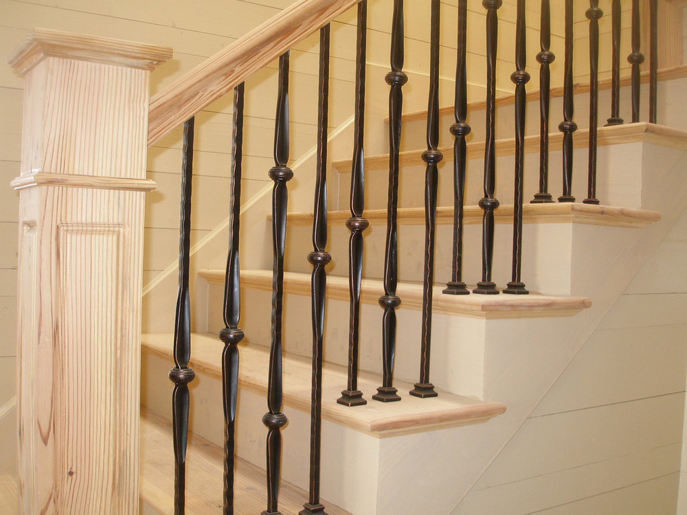 Reclaimed Antique Heart Pine Stair System
