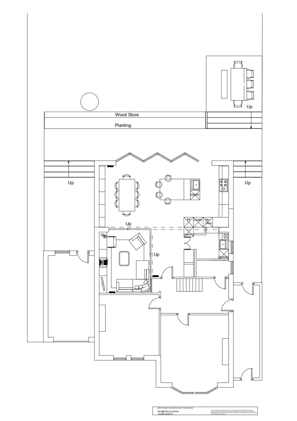 - Sam BartholomewProject Date: June 2018Project Price: £50,000 - £100,000.We were planning a kitchen extension but struggling with the lay-out of the space. We contacted Sara to help and were very happy with the service she provided us with. She came up with great ideas that we would never have thought of whilst keeping in mind the limitations of our budget. Her presentation of the design was professional and inspiring and we look forward to working with her again on the next stage of our project.12 September 2018