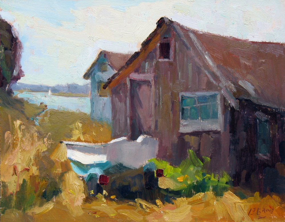 "Dingy Shack, 11""x14"", Oil on Board"