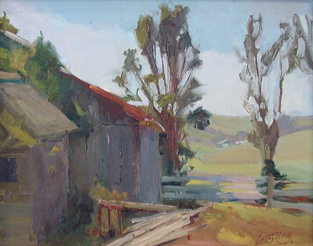 "Azevedo Ranch, 14""x18"", Oil on Board"