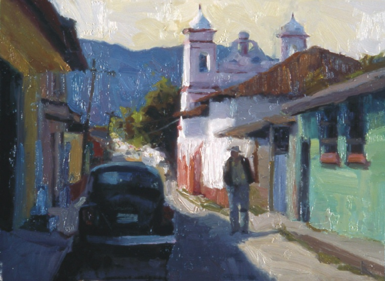 "San Christobal VW, 12""x16"", Oil on Board"