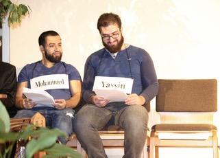 Mohammed (Horayra Hossain, son of Mohammed) and Yassin (Salah Muhiddin, son of Yassin)