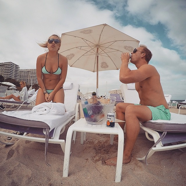 @GoPro experimenting in matching bathing suits️