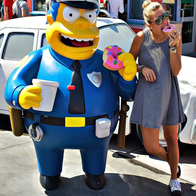On the job with Cheif Wiggum a couple days ago #coplife #mmmdonut