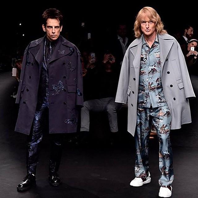 Model comeback of the season Derek #Zoolander and Hansel closing the @MaisonValentino F/W 2015 show #bluefuckingsteel #walkoff #defsbuyinghanselspijamas