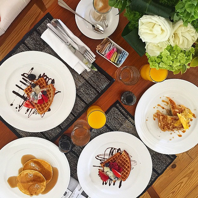Why does anyone ever pick between pancakes, waffles, and French toast? #breakfastofchampions