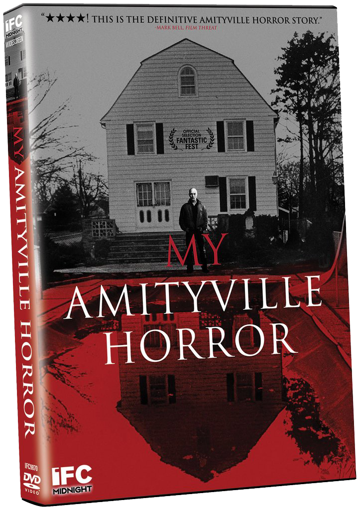 DVD Special Features include filmmaker commentary with Director Eric Walter and Producer Andrea Adams,  Living With Amityville  Featurette, and Theatrical Trailer