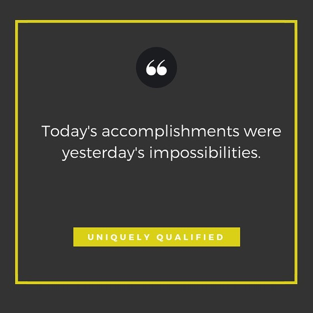 Celebrate the small and big accomplishments each day, it makes the journey so much more rewarding 🙌 . . We would love to celebrate your accomplishments and help give you the purpose in achieving more accomplishments on your journey at one of our upcoming tour dates for Uniquely Qualified💛 . . Get registered in the city near you at www.IAmUniquelyQualified.com (Chicago up next!)
