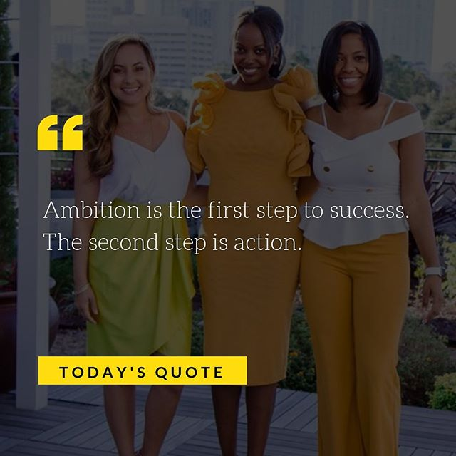 Happy Tuesday! Let's start taking action and making moves that will help us get closer to our goals 🙌 . . There's still a few days left until our next POWERFUL Women's Day Conference in Chicago, head over to www.IAmUniquelyQualified.com to get registered 💛
