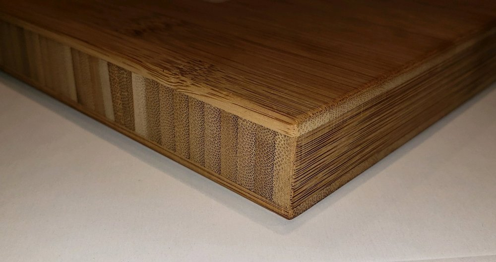 Picture above demonstrates Bamboo Plywood in 3-ply Construction