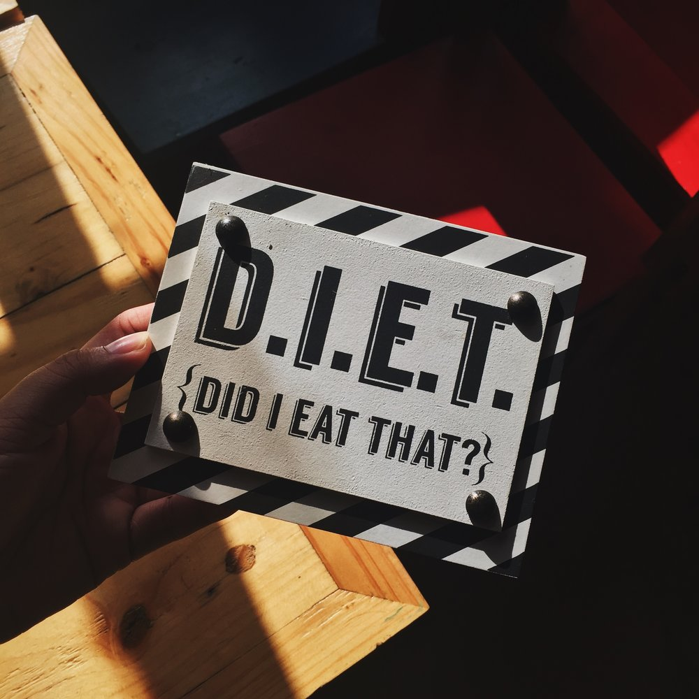 I always wondered why I disliked the word diet…I think I'll stick to making healthier choices!