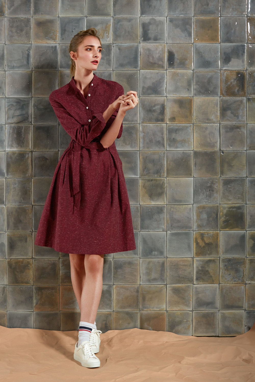 Baumwollflanell Kleid