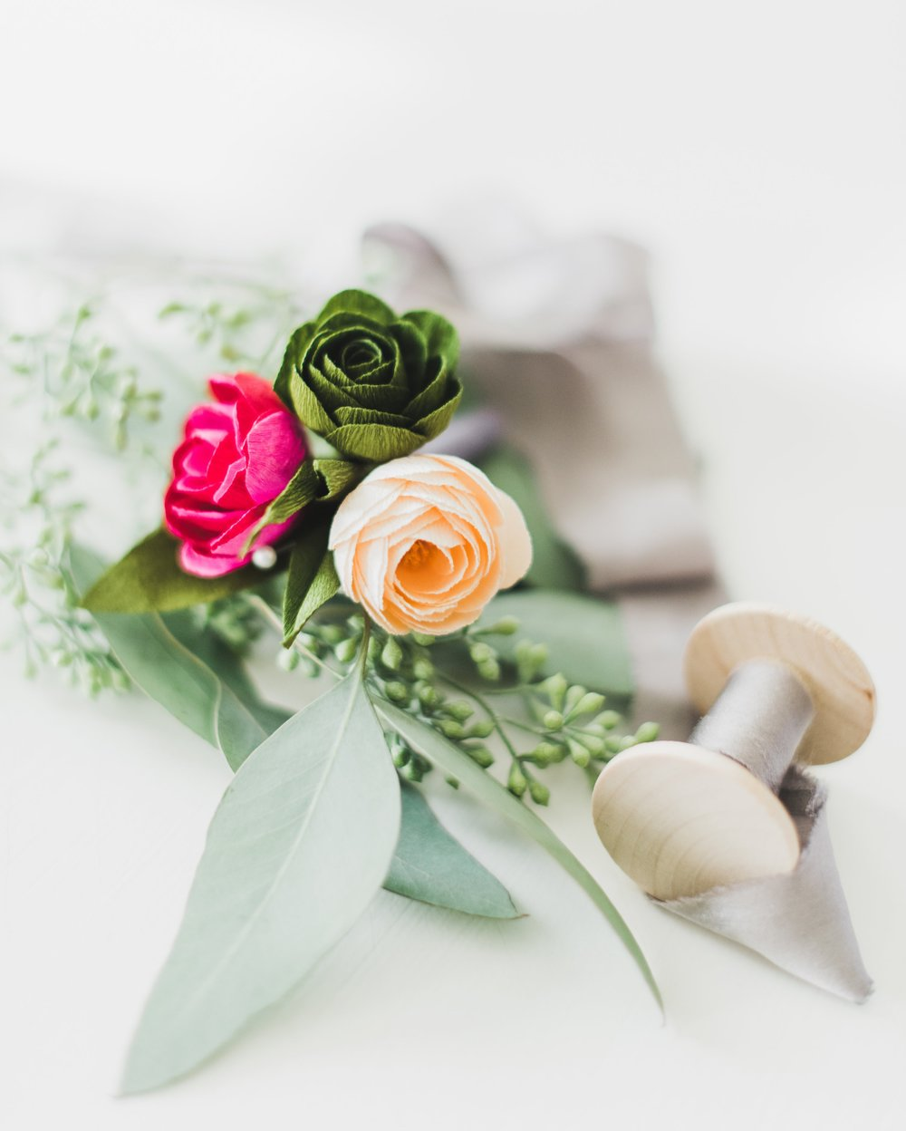 Boutonnières & Corsages - Match your flowers with other accessories like boutonnières and corsages. All in your favorite color.