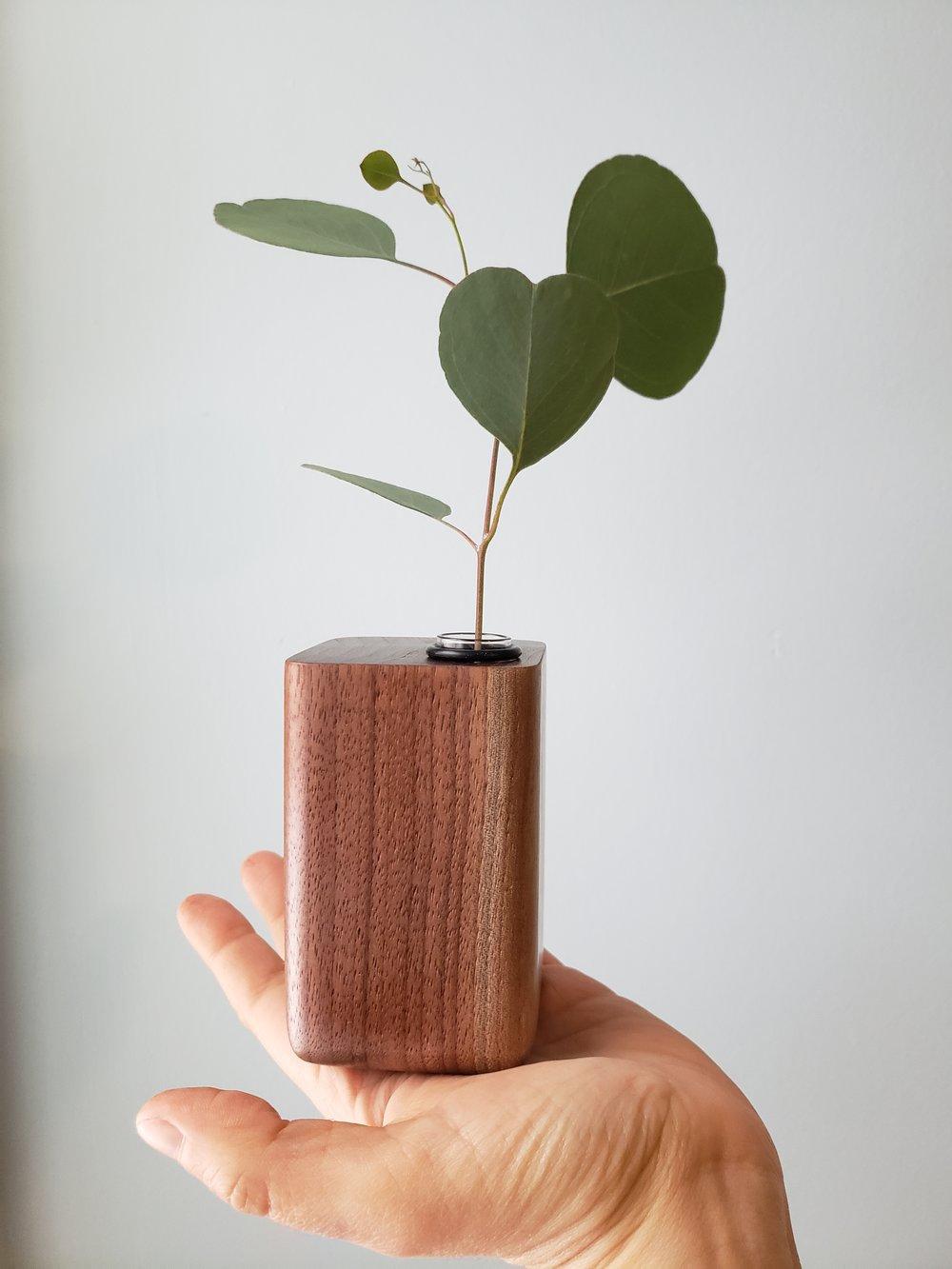 Walnut Bud Vase