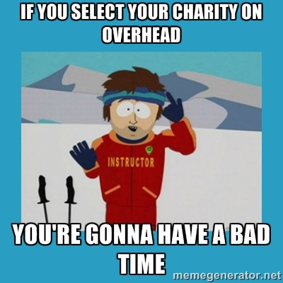 You can't donate to the most effective charities in Australia by just focusing on overhead
