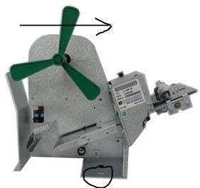 Remove Printer - Remove screw (circled) and push forward