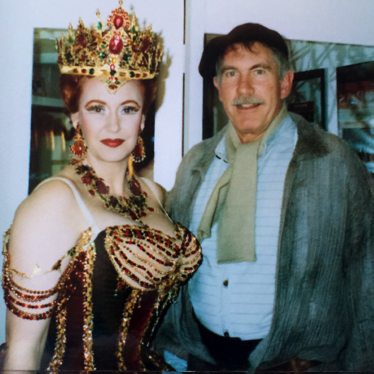 as Carlotta in Phantom, with Tony Morgan
